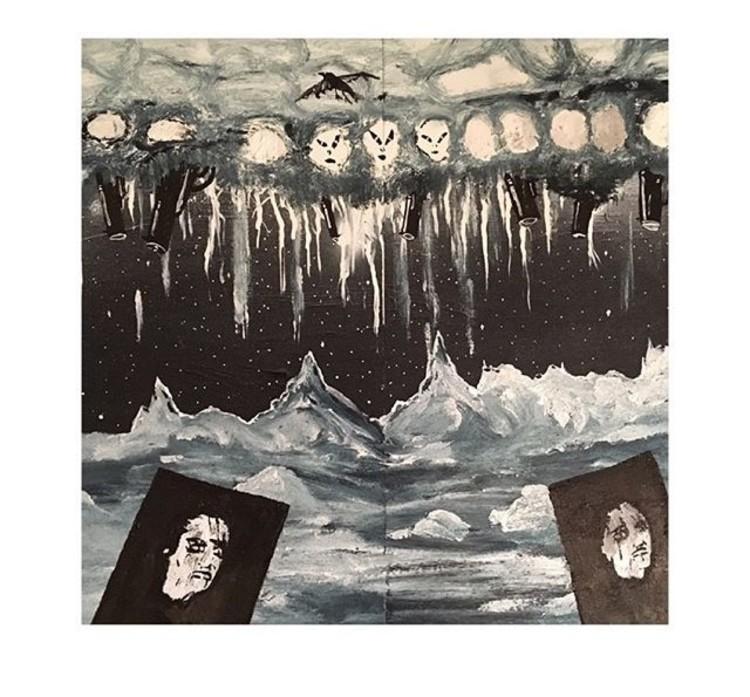'Förödelse och fördom', ett konstverk av August Nilsson