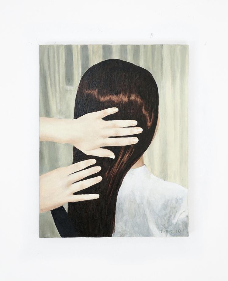 'Soft Spoken Relaxing Hair Play', 2018, ett konstverk av Tove Dreiman