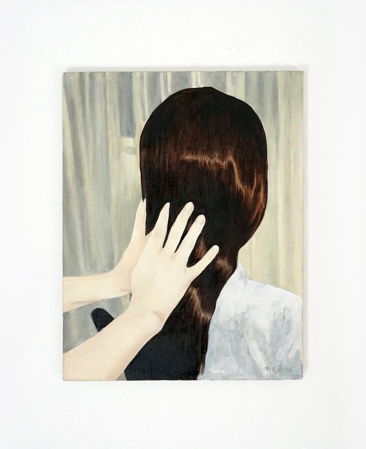 'Soft Spoken Relaxing Hair Play', 2016, ett konstverk av Tove Dreiman