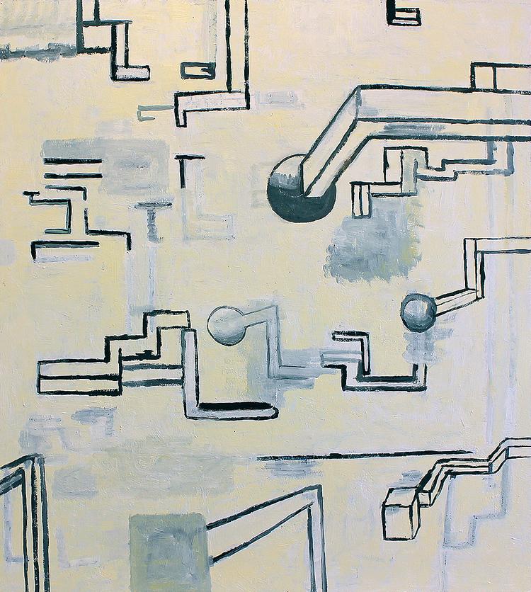 'Kopplingar II', 2018, ett konstverk av Peter Wiklund