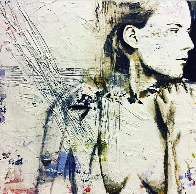 'Rock', 2018, ett konstverk av Ulrika Melin
