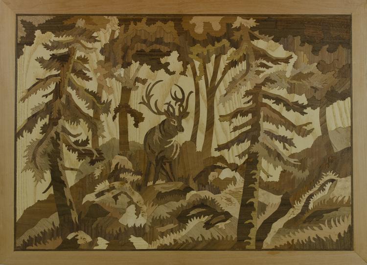 'Älg i Skogen', 2019, ett konstverk av Oubiada Mualem\ Lindekosnt