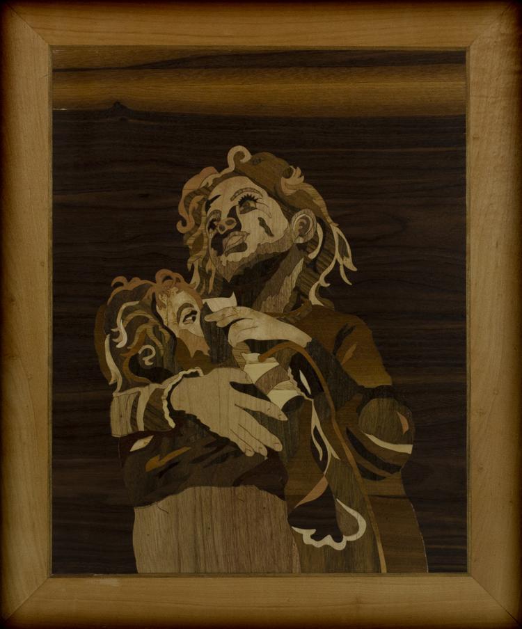 'Flickan och systern ', 2019, ett konstverk av Oubiada Mualem\ Lindekosnt