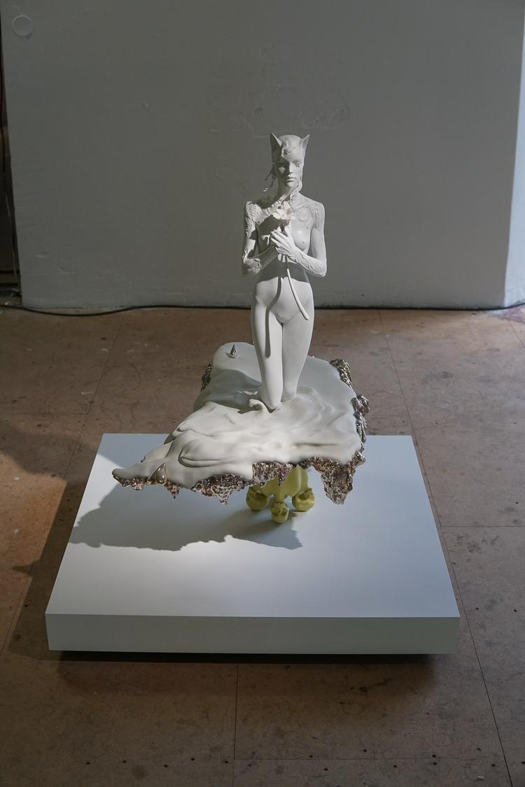 'Offerings at an endless sea', 2019, ett konstverk av David Åberg
