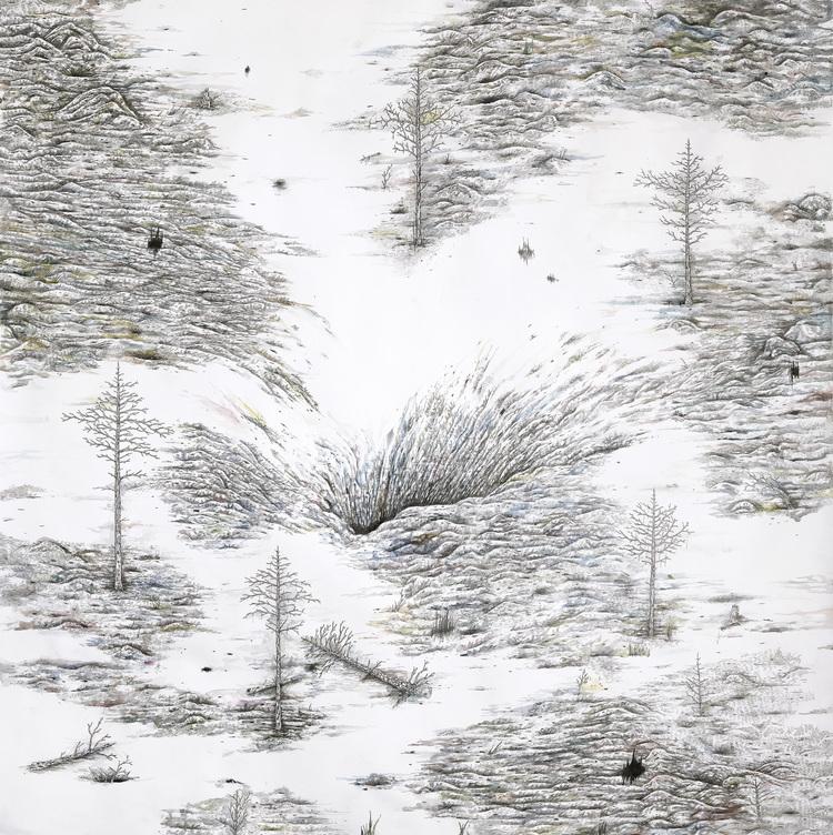 'Nedstigning', 2017, ett konstverk av Johan Björkegren