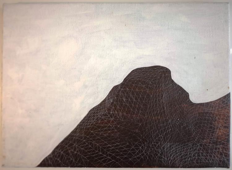 'Haptic Landscape I', 2014, ett konstverk av Backa Carin Ivarsdotter