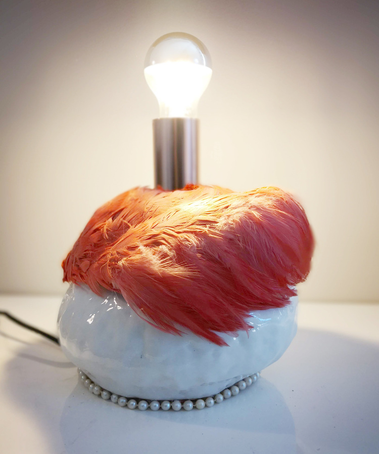 'Flamingo objekt', 2018, ett konstverk av Backa Carin Ivarsdotter