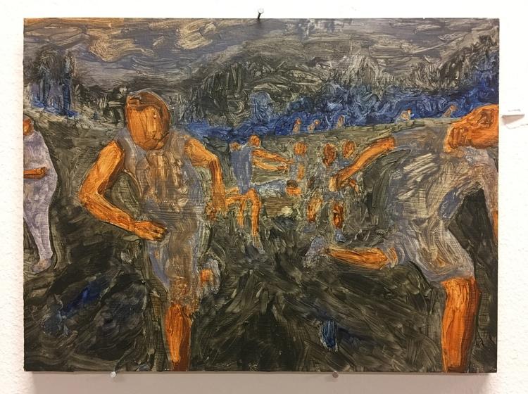 'Hide and seek II', 2018, ett konstverk av Evelina Lindström