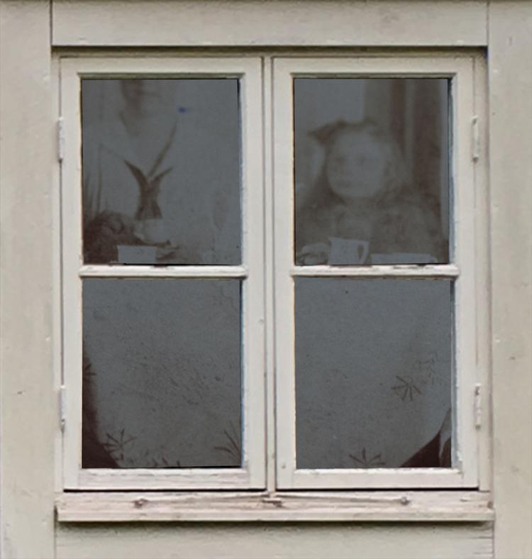 'Trompe l'oeill IV ', 2020, ett konstverk av Christel Lundberg