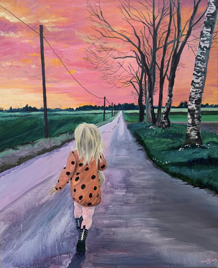 'Hemvägar', 2019, ett konstverk av Frida Johansson