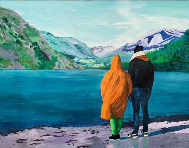 'Du och jag, Emil', 2019, ett konstverk av Frida Johansson