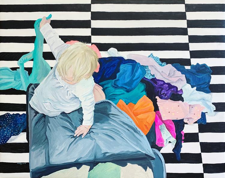 'Ahlbeckerstrasse', 2019, ett konstverk av Frida Johansson