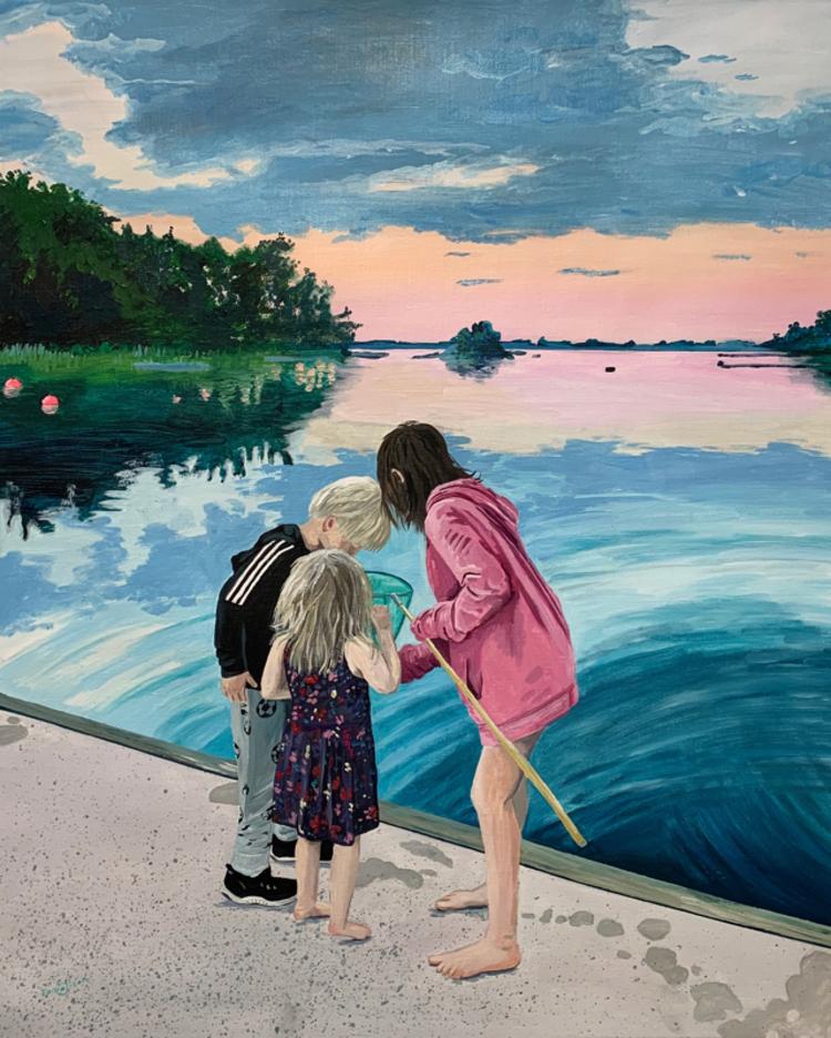 'Kvällen före dagen efter', 2019, ett konstverk av Frida Johansson