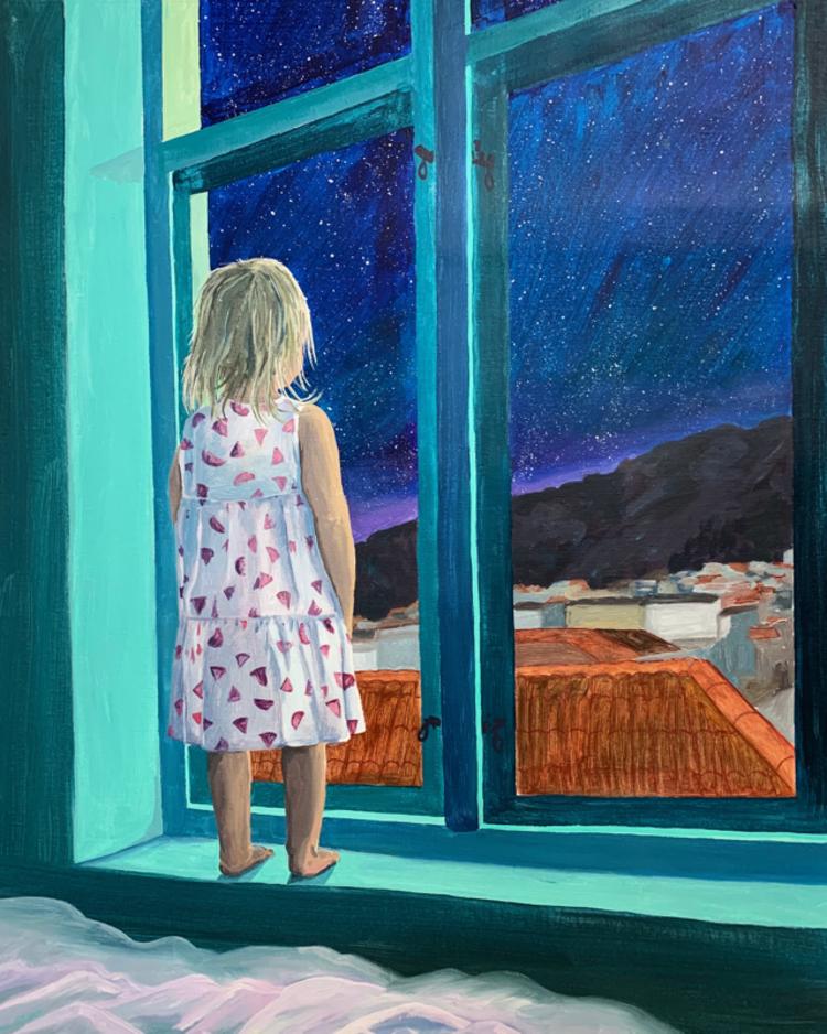 'Hur låter soluppgången?', 2019, ett konstverk av Frida Johansson