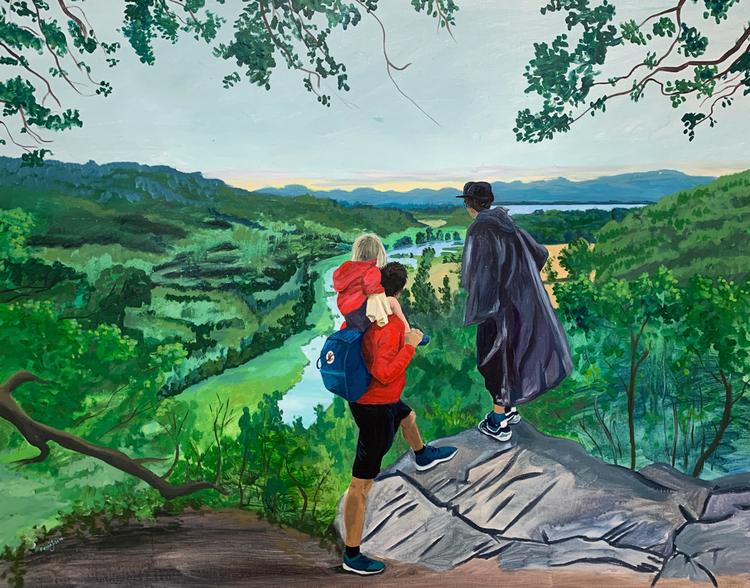 'Hiaklitten', 2019, ett konstverk av Frida Johansson