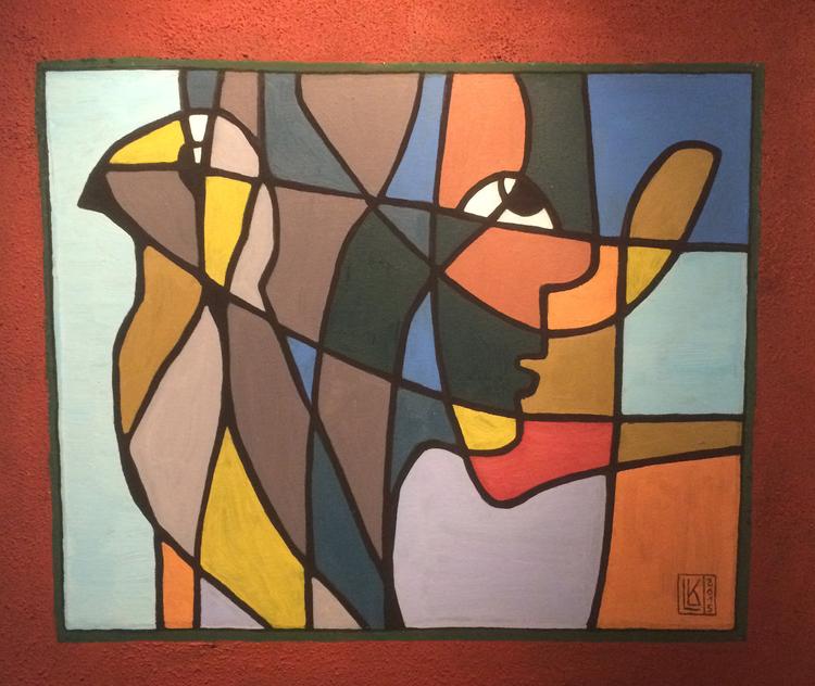 'Försiktigt närmande', ett konstverk av Lizi Kothe-Lebsanft