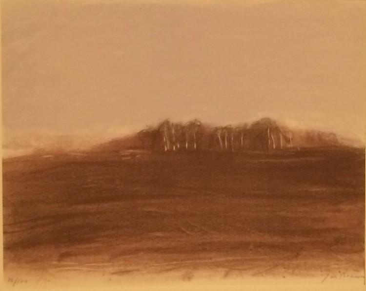 'Den hemlighetsfulla skogen', ett konstverk av Jan Brauner