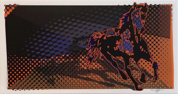 '4. Vildhästar 1', 2019, ett konstverk av Per Josephson
