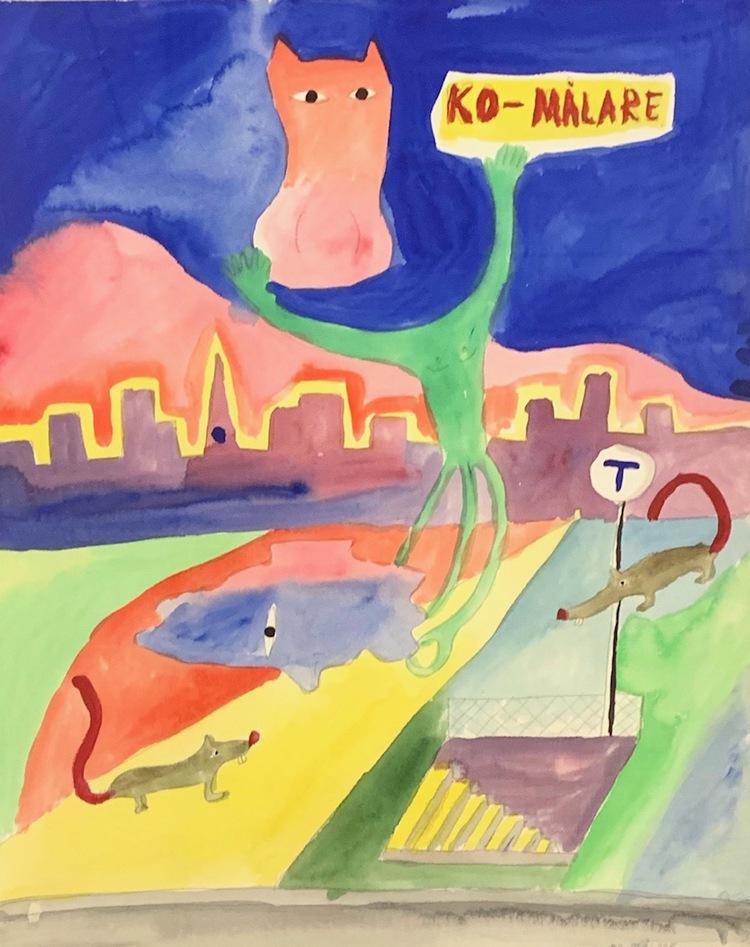 '4. Ko-målare', 2019, ett konstverk av C.M. Lundberg