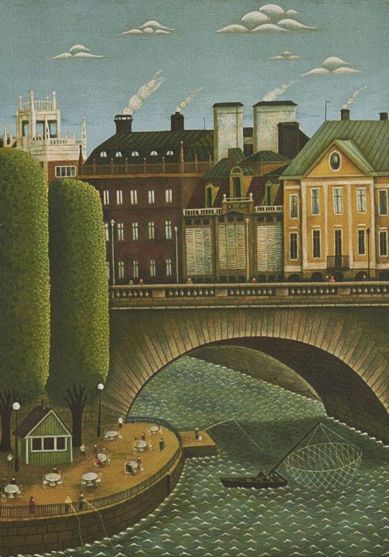 '4. Norrbro', 2019, ett konstverk av Gösta Gustavsson
