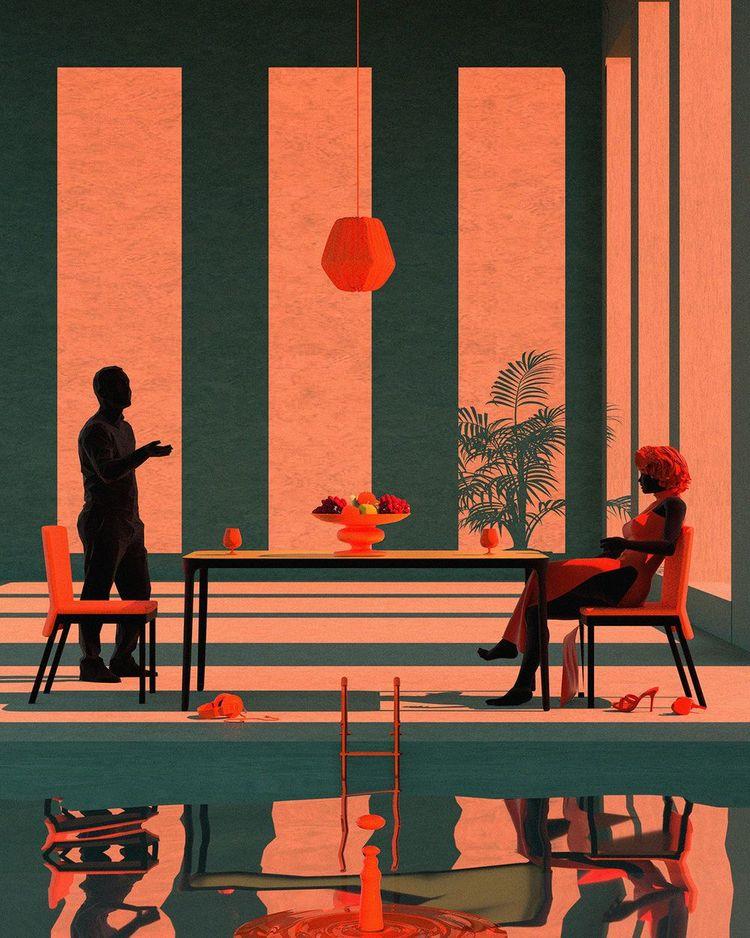 '5. The Last Banquet', 2019, ett konstverk av Tishk Barzanji