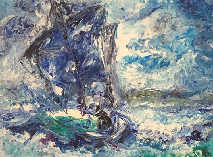 '5, The Lonley Sailor', 2019, ett konstverk av Jeanine Jansson