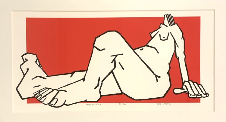 '5. Röda linjen 2', 2019, ett konstverk av Åke Westin