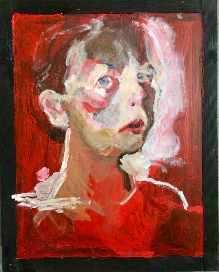 'Portrait in August', 2019, ett konstverk av Annika Svahnberg