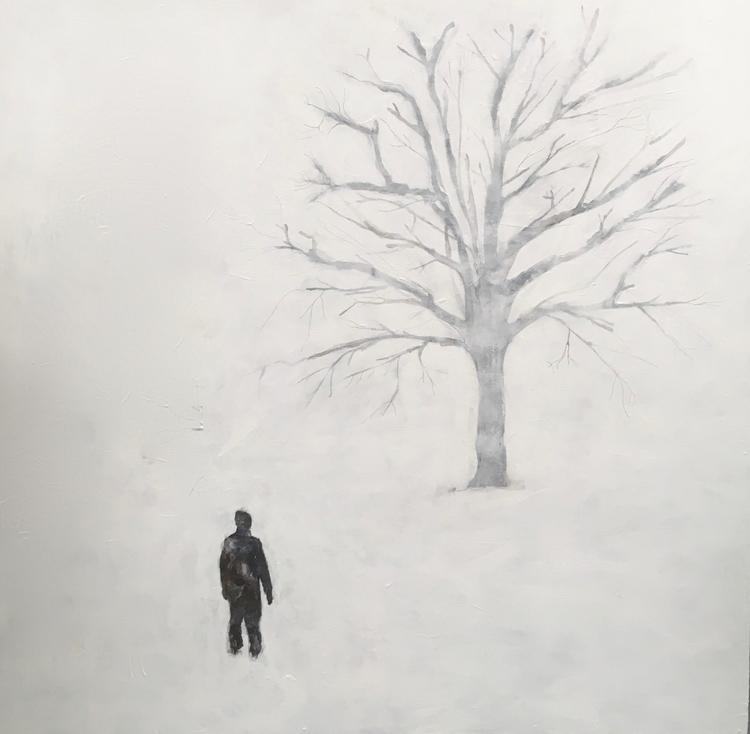 """'""""Du. (Det finns två sätt att möta världen: att tilltala den med ett Det, eller att tilltala den med ett Du.)""""', 2019, ett konstverk av Annika Svahnberg"""