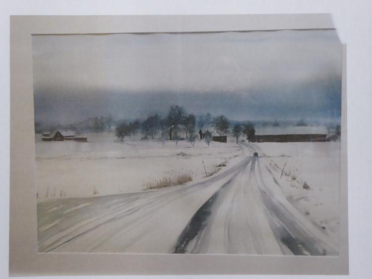 'Vingåker III, Akvarell', ett konstverk av Christian Koivumaa
