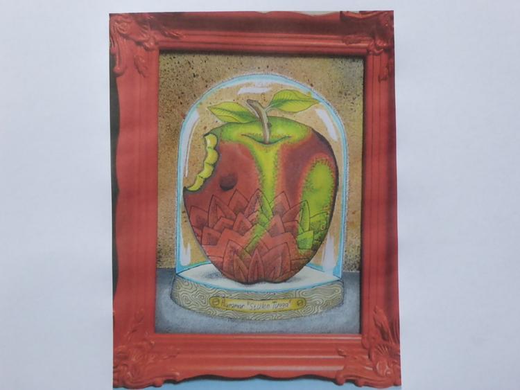 'Stulen tugga, Blandteknik', ett konstverk av Pontus Hammar
