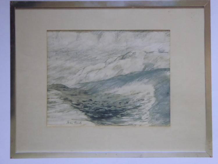 'Vinterbild, Teckning', ett konstverk av Sven Frick