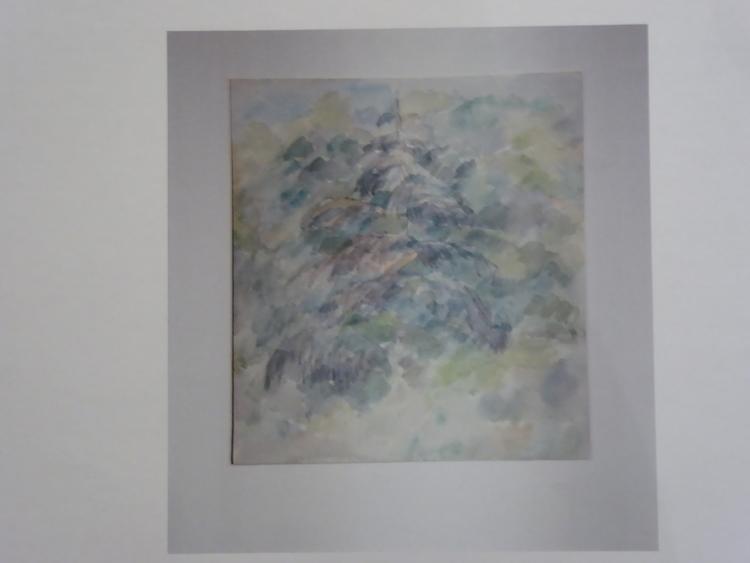 'Torrgran, Lövhagen, Julita. Akvarell', ett konstverk av Carl-Marcus Larsson