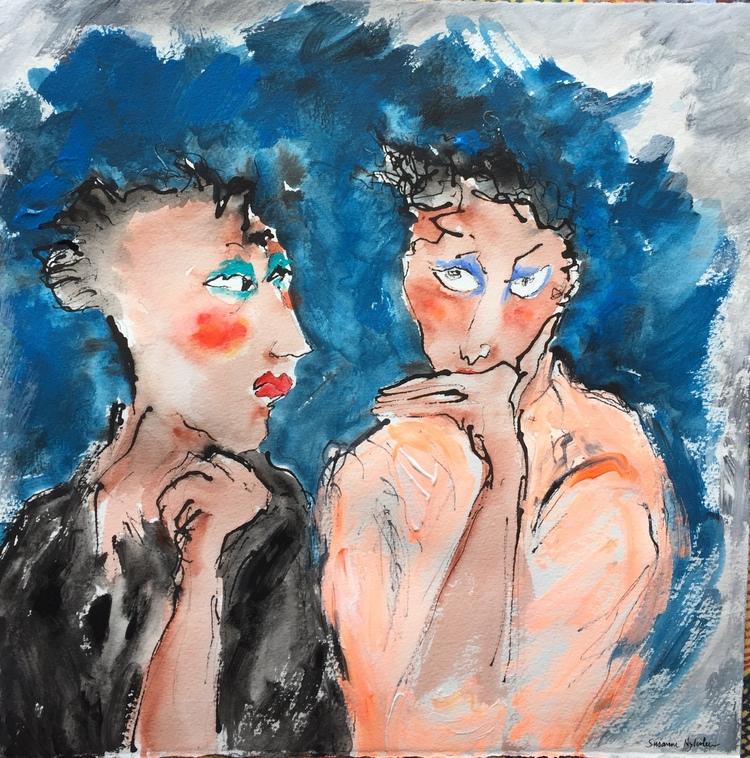 'False confidence', 2019, ett konstverk av Susanne Nyholm