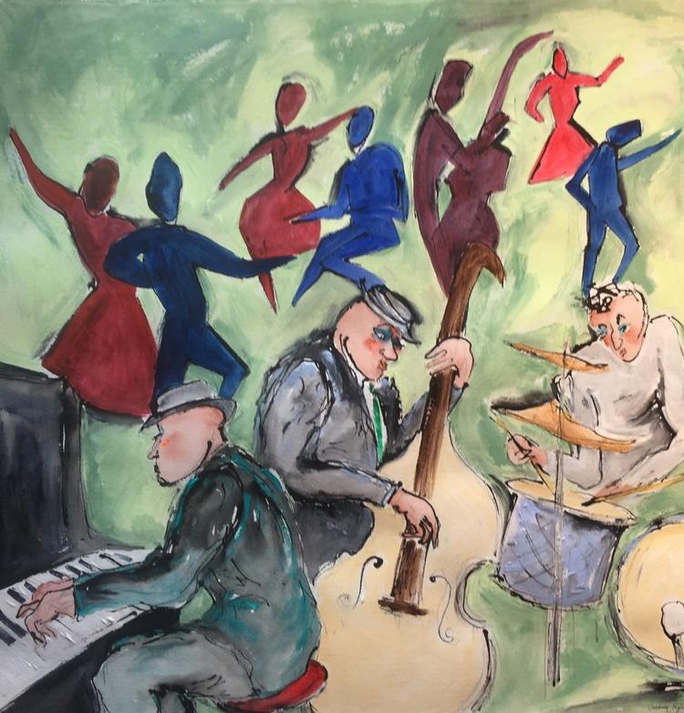 'Jazz', 2019, ett konstverk av Susanne Nyholm