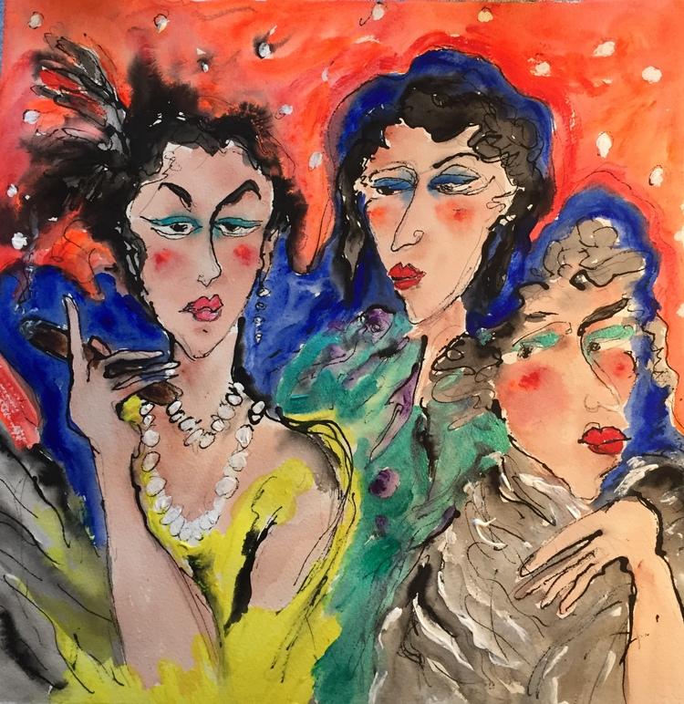 'Tres senoras', 2020, ett konstverk av Susanne Nyholm