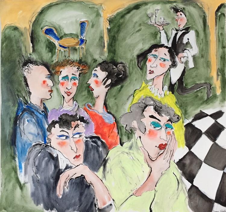 'Theater of life', 2020, ett konstverk av Susanne Nyholm