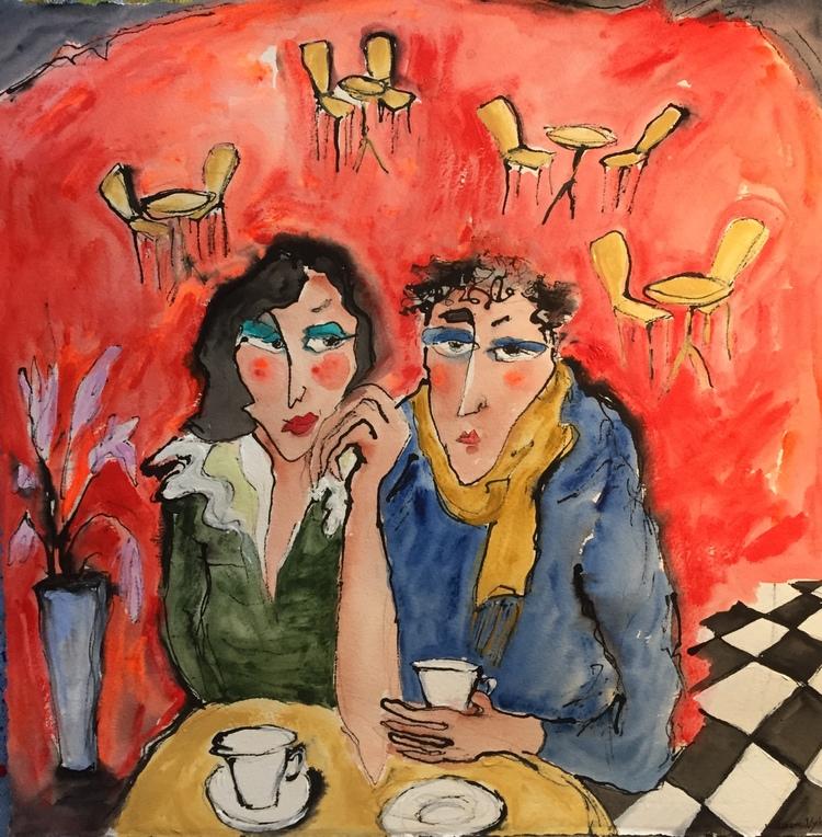 'Coffee break', 2020, ett konstverk av Susanne Nyholm
