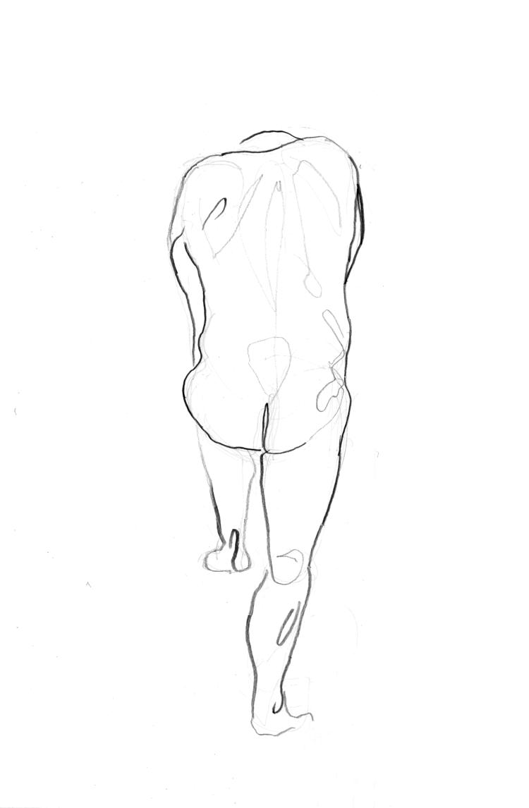 'Old man, standing, no. 2', 2018, ett konstverk av Cecilia Klementsson