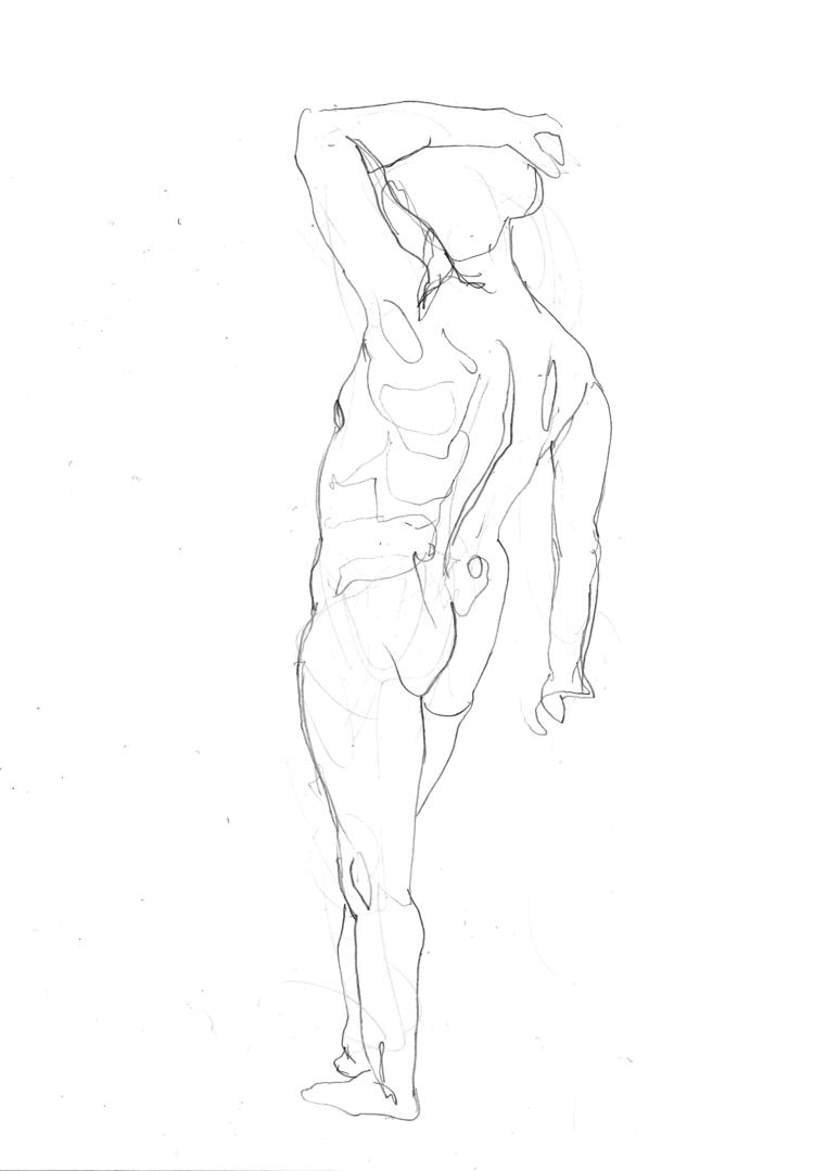 'Old man, standing, no. 4', 2018, ett konstverk av Cecilia Klementsson