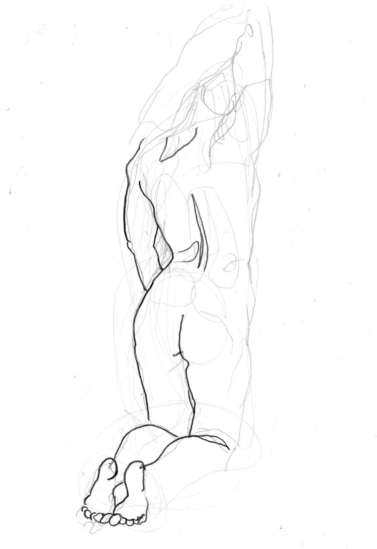 'Arm stretches no. 3', 2018, ett konstverk av Cecilia Klementsson