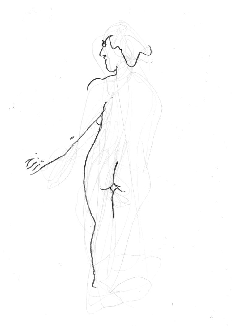 'Arm stretches no. 1', 2018, ett konstverk av Cecilia Klementsson