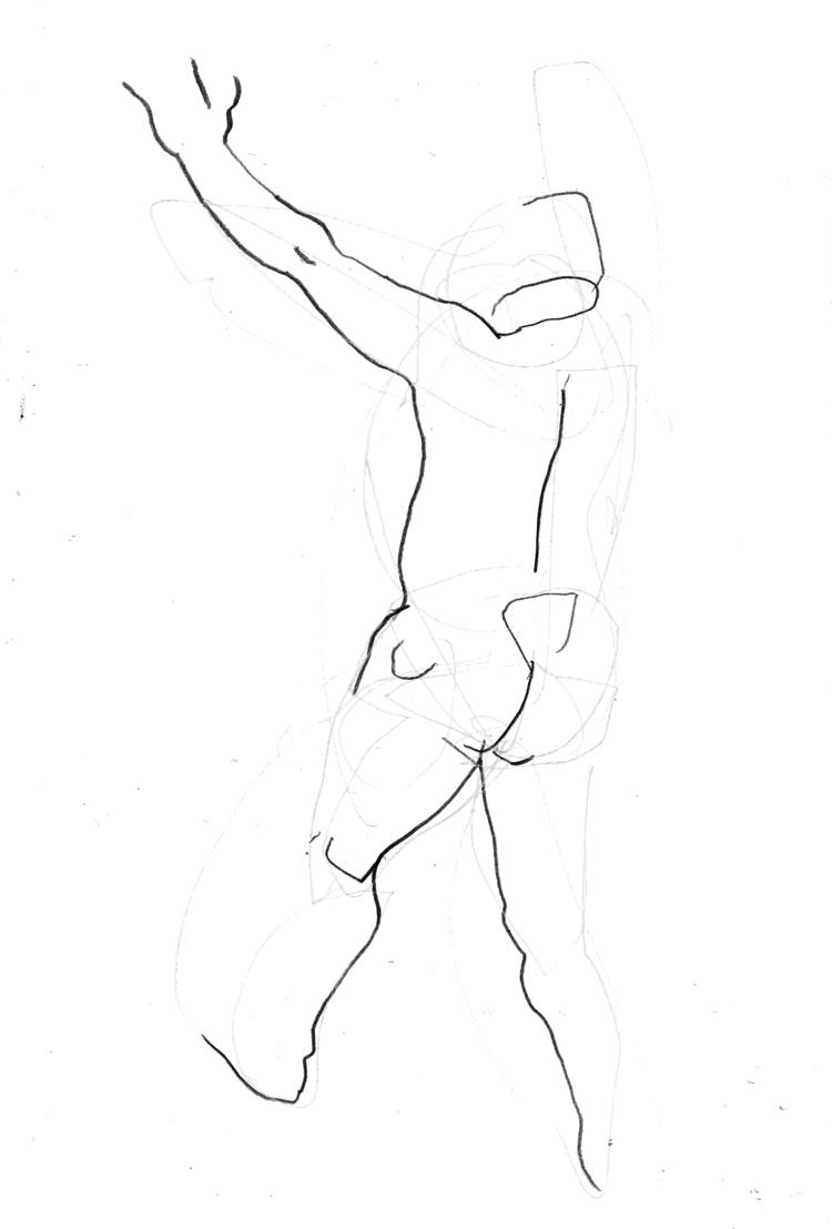 'Two minute moves of a man no. 1', 2018, ett konstverk av Cecilia Klementsson