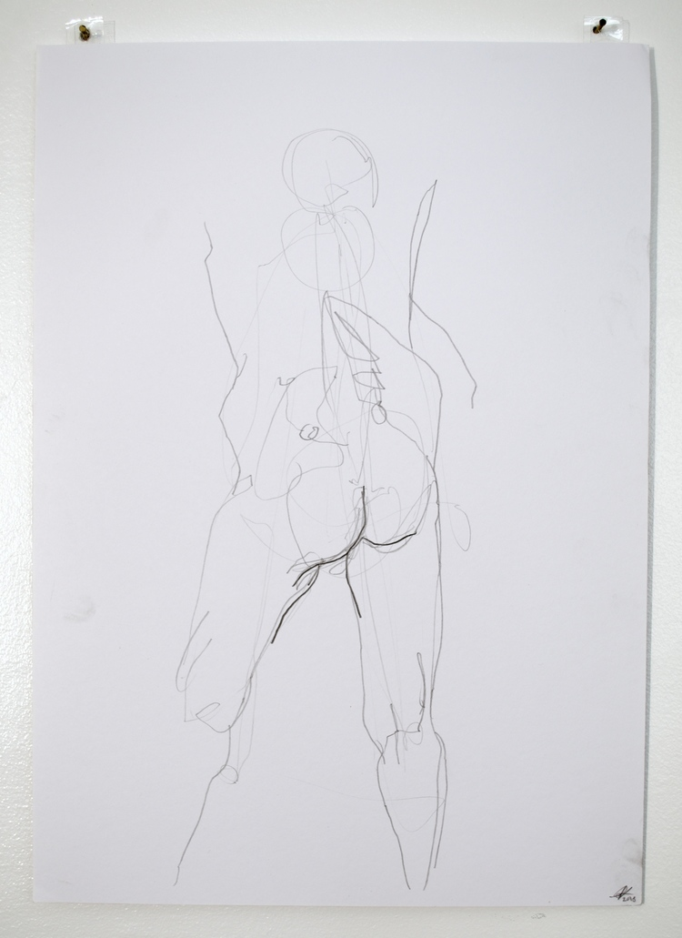 'Old mans butt no. 1', 2018, ett konstverk av Cecilia Ulfsdotter Klementsson