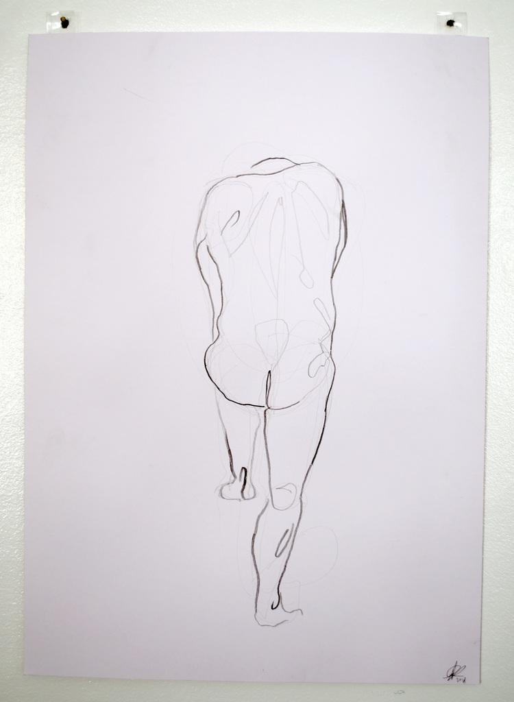 'Old mans butt no. 2', 2018, ett konstverk av Cecilia Ulfsdotter Klementsson