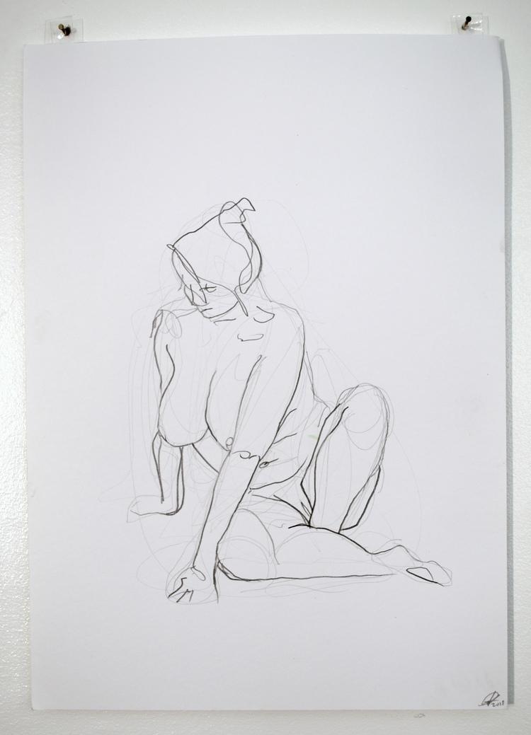 'Young woman, reclining no. 1', 2018, ett konstverk av Cecilia Ulfsdotter Klementsson