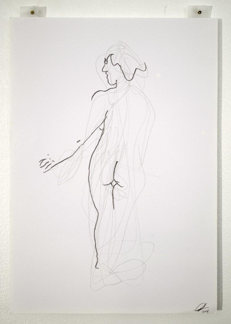 'Arm stretches no. 1', 2018, ett konstverk av Cecilia Ulfsdotter Klementsson