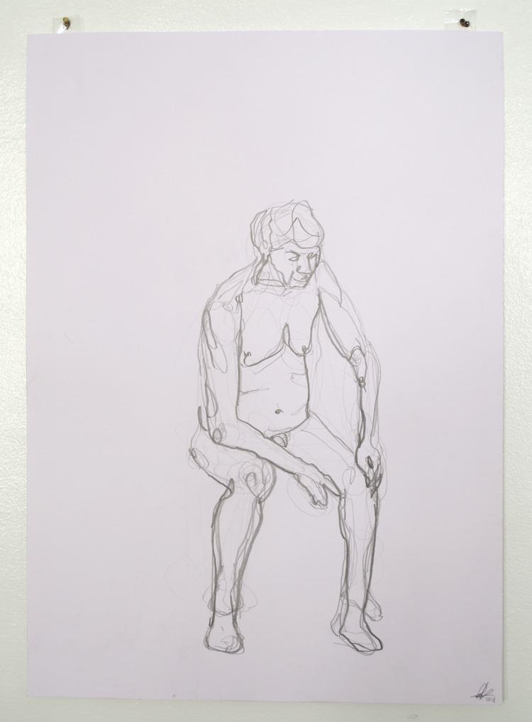 'Old man, reclining, no. 1', 2018, ett konstverk av Cecilia Ulfsdotter Klementsson