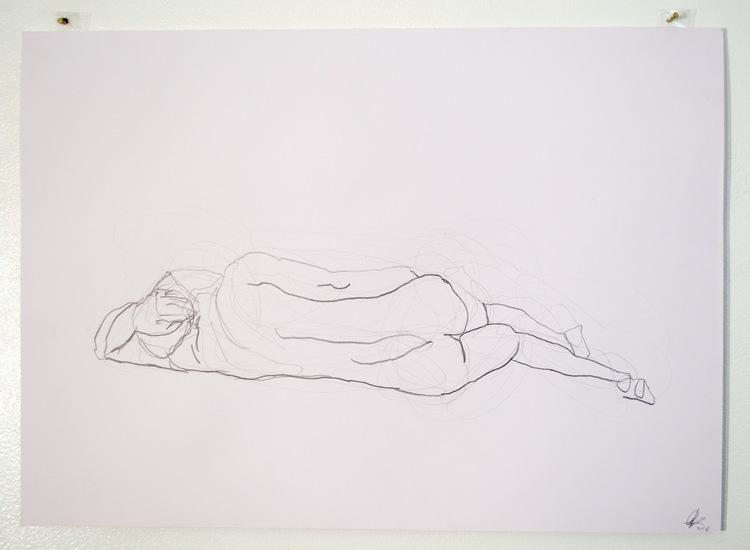 'Old man, reclining, no. 3', 2018, ett konstverk av Cecilia Ulfsdotter Klementsson