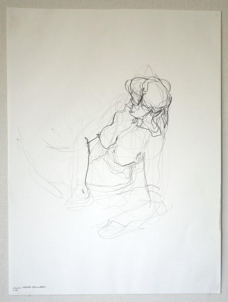 'Seated movement', 2017, ett konstverk av Cecilia Ulfsdotter Klementsson